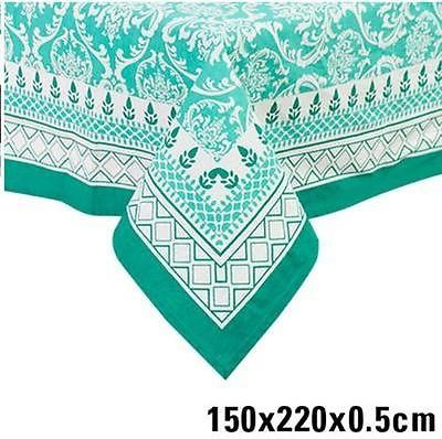 AQUA MINT TURQUOISE TABLE CLOTH 6 SEATER LARGE OUTDOOR INDOOR TABLECLOTH  AU $49.90