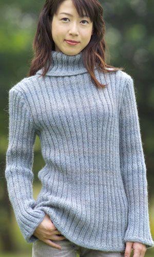 あむと。 シンプルなセーター編みたい。 シンプルなリブ編みのセーターの編み図がないかしら・・・と探していたら、あったあった!ありました!! ピエロさんの無料編み図にこんなのが。