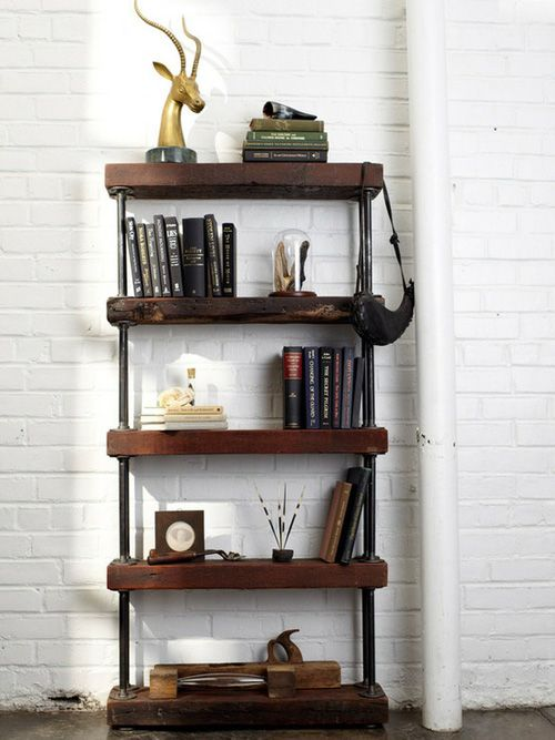 here's the pipe shelf I've been looking for. I think we have the salvage wood for it...