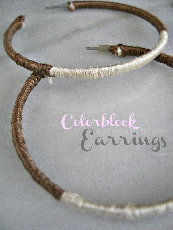 Make Your Own Colorblock Earrings #diy #handmade #tutorial  astylishlittlelady.com