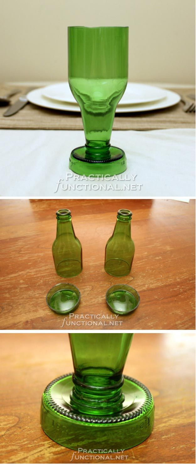 17 best images about upcycling glass bottles on pinterest man cave uses for beer bottles diy beer bottle glassesdiy bottle crafts solutioingenieria Image collections