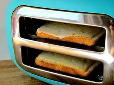 Mike Always talked about making Grill cheese in a toaster. Finally a picture of someone doing it.