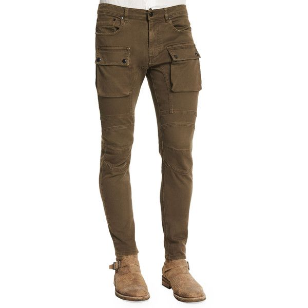 Belstaff Felmore Slim-Fit Cargo Pants (5.650.090 IDR) ❤ liked on Polyvore featuring men's fashion, men's clothing, men's pants, men's casual pants and sable