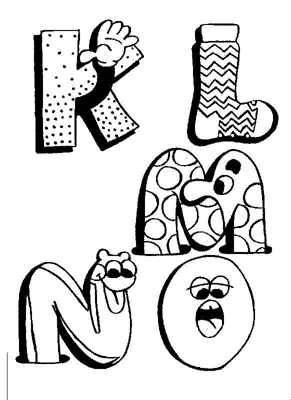 Coloriage Lettres De L Alphabet Qui Font Rire Et Dessin