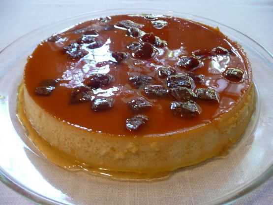 I made this as a side dish for Dads 67th Birthday Cake. This stole the show from the cake and everyone wanted the recipe. It is denser than most flans almost like a cross between cheesecake and flan with cubes of guava across the top. Thank you Moommy from PAC 09 for your suggestions! You can buy guava paste in flat cans in the international aisle of the grocery store.