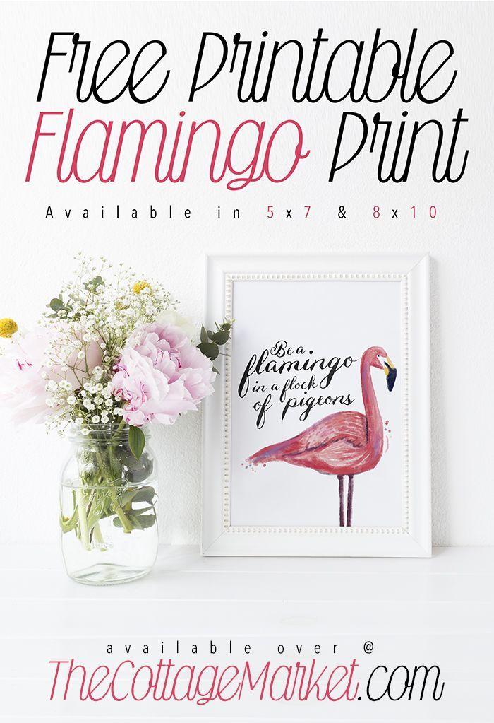 Free Printable Flamingo Print