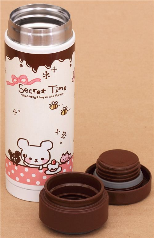 chocolate bear sweets thermo bottle from Japan