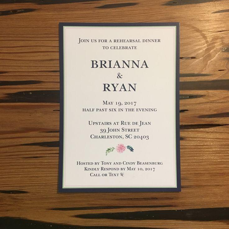 free wedding borders for invitations%0A Rehearsal Dinner Invitation   Kuszmaul Design  u     PR   Mount Pleasant