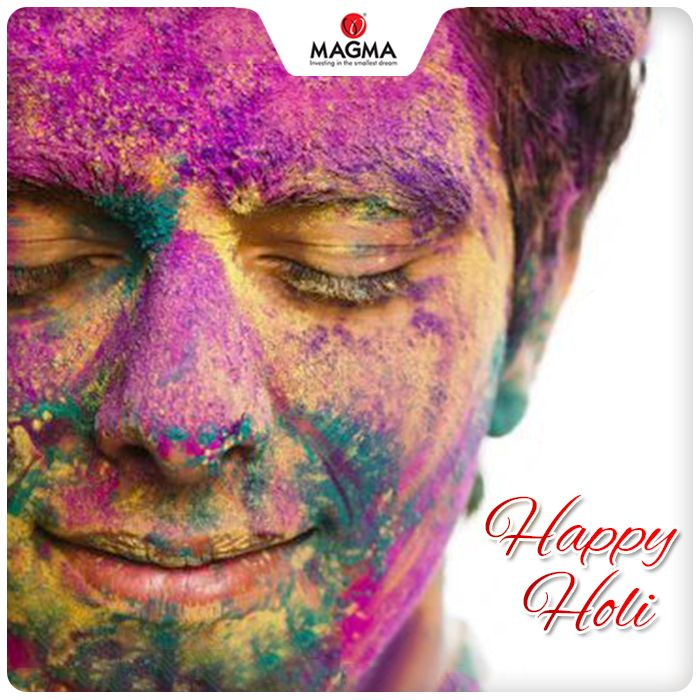 This #Holi use organic colour to play. They are much safer for the skin and are #EcoFriendly. Magma wishes everyone a very Happy Holi!