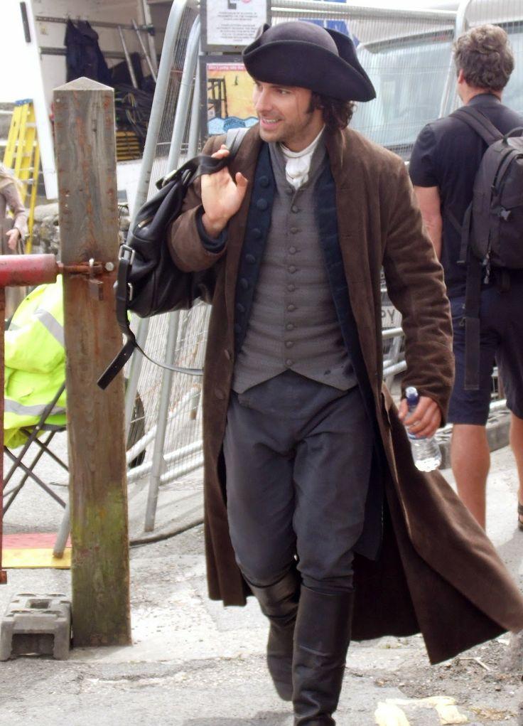 Poldarked: Aidan Turner Filming Poldark in Charlestown