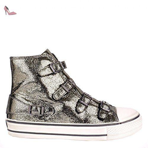 Ash Chaussures Jeday Saphir et Noir Baskets Femme 37 EU Saphir/Noir RdVLML4
