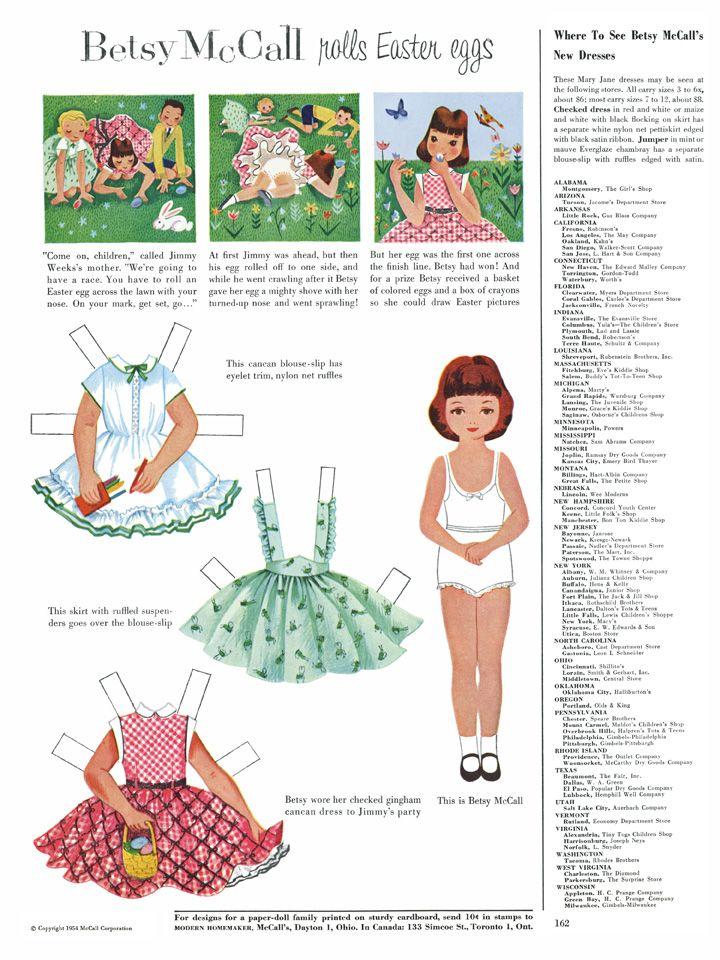 Betsy McCall paper doll from the month and year I was born!