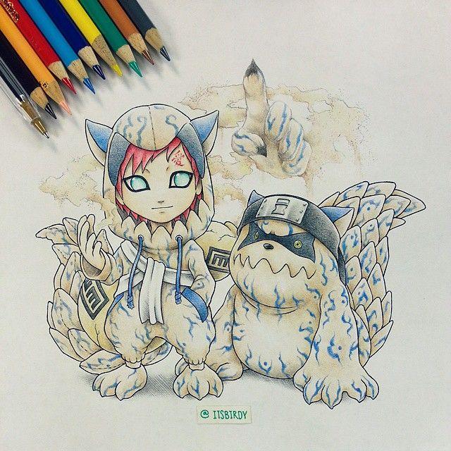 Dibujado de Gaara
