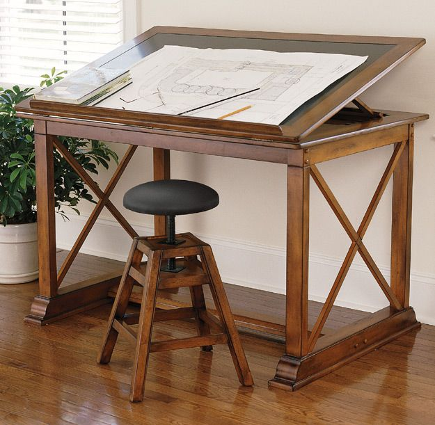 charleston gardens drawing table and adjustable stool - Drafting Tables
