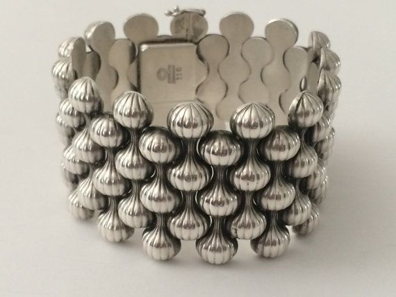 """1940's Sterling Silver Georg Jensen """"Onion"""" Bracelet on Etsy, $3,500.00"""