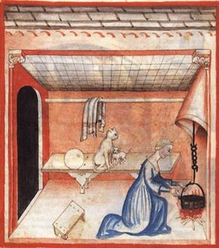 , Medieval Woman Cooking