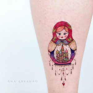 Dangling Russian nesting doll design by Ana Abrahao