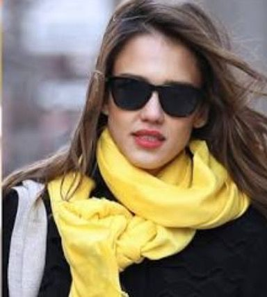 A sunny pop of yellow can really lift your winter look and works very well with dark tones such as black, grey, denim and navy.  Photo credit- The Honest Company
