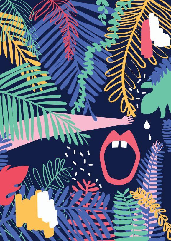 Pola Augustynowicz Plakat | Dżungla II #ladnerzeczy #targirzeczyladnych #ladnerzeczydziejasiewinternecie #polishdesign #design #poster #plakat #colors #lovecolors