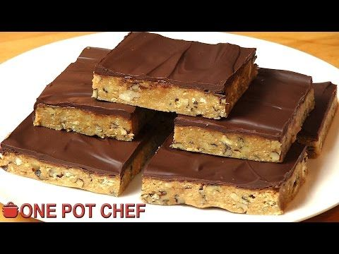 No Bake Chocolate Crunch Slice | One Pot Chef - YouTube