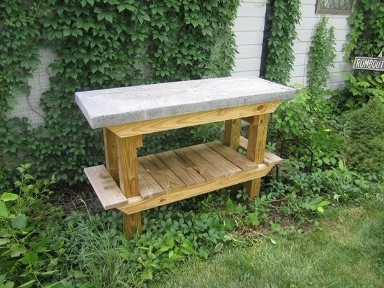 RYOBI NATION – Super Tuff Concrete & Wood Potting /Grilling table