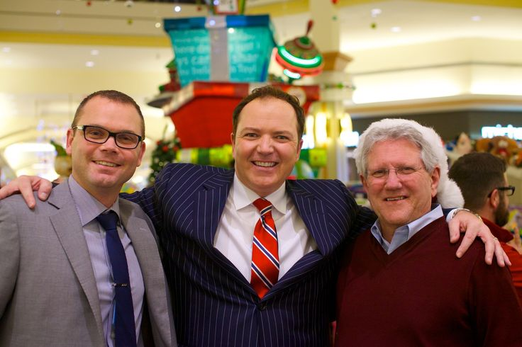 Brian Marentette, GM of Hillcrest Mall; Tom Brown, CTV; Dave Barrow, Mayor of Richmond Hill - Hillcrest Toy Mountain 2014-12-16, 19-52-05