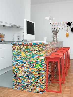 Lego Brick Kitchen Island | Wild Kitchen Colors Pictures