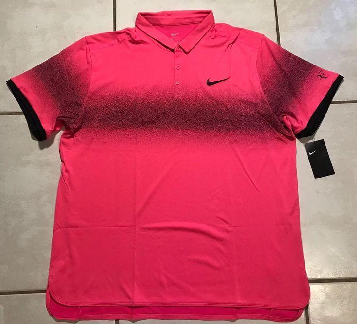 NWT NIKE Roger Federer Advantage PINK Tennis Polo Shirt Men's 2XL  | eBay