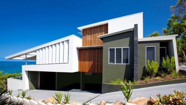 Modern beach #dreamhouseoftheday in AustraliaBeach House Design, Beach Home, Beach Houses, Modern Architecture, Coolum Bays, Aboda Design, Design Group, House Exterior, Bays Beach
