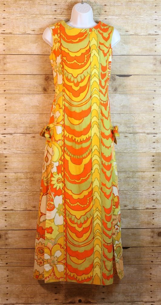 52e59660a The Lilly Vintage Lilly Pulitzer Maxi Dress Double Split Size Small (B5) # LillyPulitzer #MaxiDress