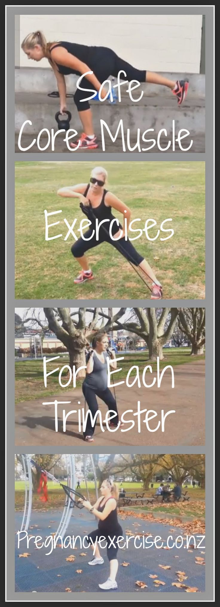 Pregnancy Exercise and Prenatal Fitness: Safe Core Exercises to do during each stage of your pregnancy. #pregnancyworkouts #pregnancyexercises #coreexercise