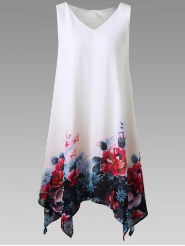 GET $50 NOW | Join RoseGal: Get YOUR $50 NOW!http://m.rosegal.com/plus-size-dresses/floral-print-sleeveless-handkerchief-dress-1161323.html?seid=8squtm7m33mdftpgek88bccg22rg1161323