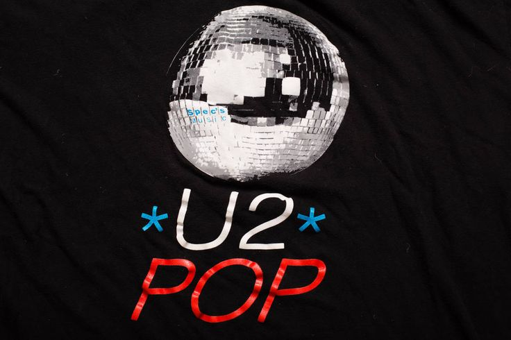 U2 Pop Spec's Music Store Promo T-Shirt Bootleg Graphic