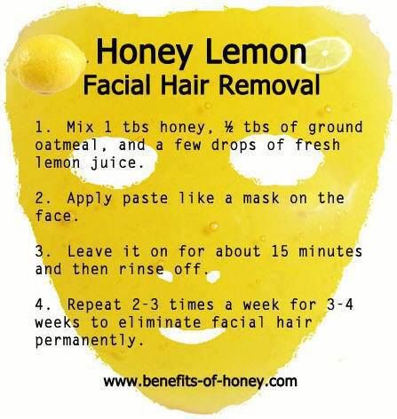 Honey Lemon for Facial Hair Removal