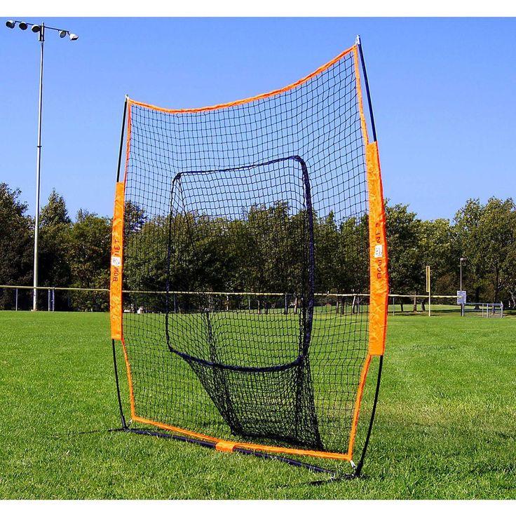 BowNet Big Mouth Baseball/Softball Portable Training Net Backstop ...