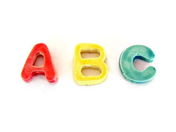 Ceramic Letters Custom Mosaic Tiles Personalized Small