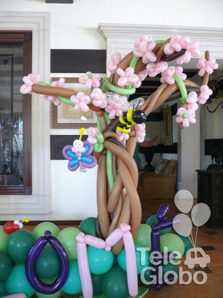 Detalle de decoraci n con globos para primera comuni n for Decoracion globos comunion