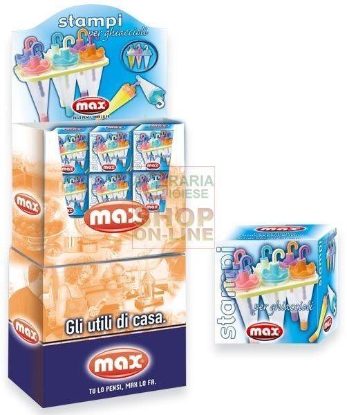 MAX SET 6 STAMPI GHIACCIOLI http://www.decariashop.it/max/11110-max-set-6-stampi-ghiaccioli-8017365012465.html