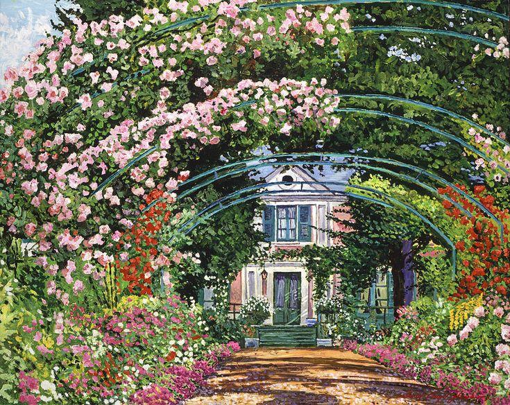 David Lloyd Glover (b.1949) —   Flowering Arbor Giverny,  2014    (900x715)