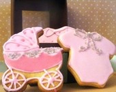 Darling baby shower cookiesShowers, Cookies Image, Baby Carriage, Design Cookies, Cookies Couture, Darling Baby, Food Cookies, Baby Shower Cookies, Onesies Cookies