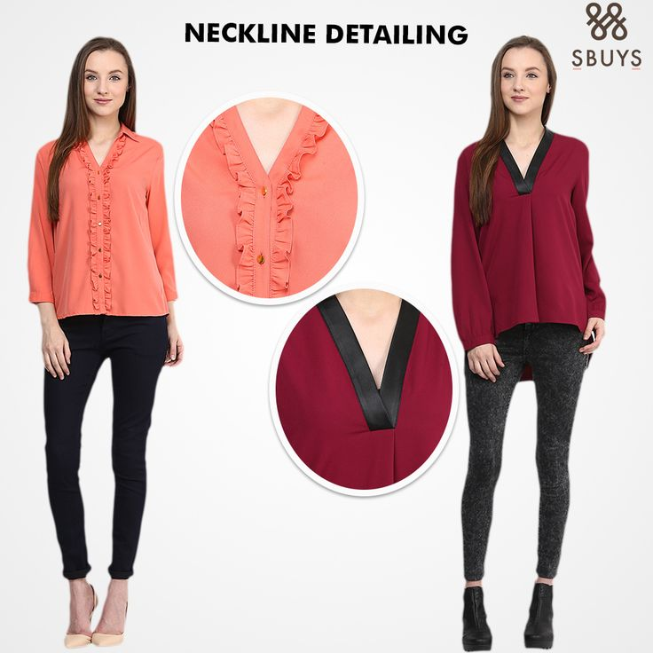 SbuyS: You can never go wrong with V-Neck  This season there are amazing necklines on SbuyS that can enhance your look.  Shop At: www.sbuys.in #sbuys #necklines #womenswear #vneck #fashionistas #newcollection #latesttrends #necklinedress