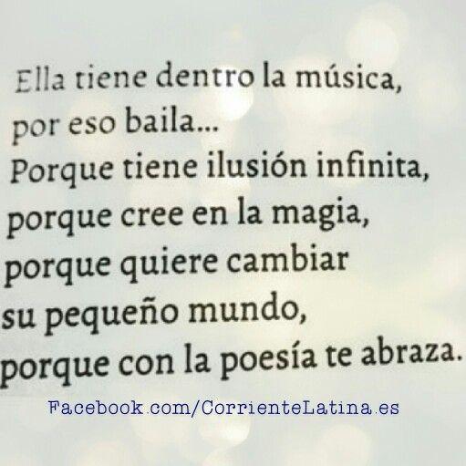 Ella tiene dentro la música, por eso #baila... ❤#BuenasNoches