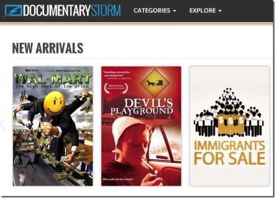 Documentary Storm curates the best documentary films available online for free.