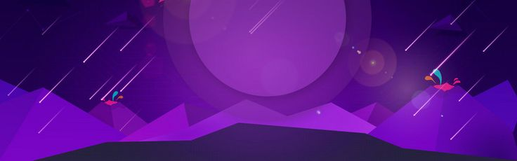Simple Purple Cool Electricity Supplier Banner in 2020   Graphic design background templates ...