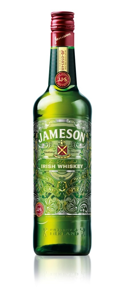 Jameson whets design-loving whiskey palates :: Idealog ::  - An etched glass Jameson limited edition bottle? Oyuss!! I want it because of the whiskey. I NEED it because the bottle is amazing.