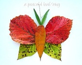 Leaf butterfly photo 8x10. Fall leaves print. Wall art. (e0977)