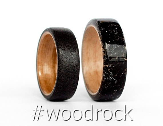 This listing presents the beautiful, handcrafted Mens Wedding Band Black Tourmaline Full inaly Ring Beech Wood. This is ideal if you are looking for Mens Wedding Band, Mens Wooden Ring, Men Promise Ring, Black Wood Rings, Mens Wood Wedding Bands, Wood Wedding Bands, Black Tourmaline