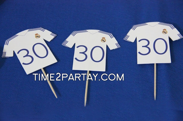 Real madrid soccer themed party decorations sweets more events and - Real madrid decorations ...