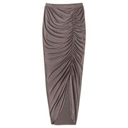 mossimo 174 womens ruched maxi skirt assorted colors type