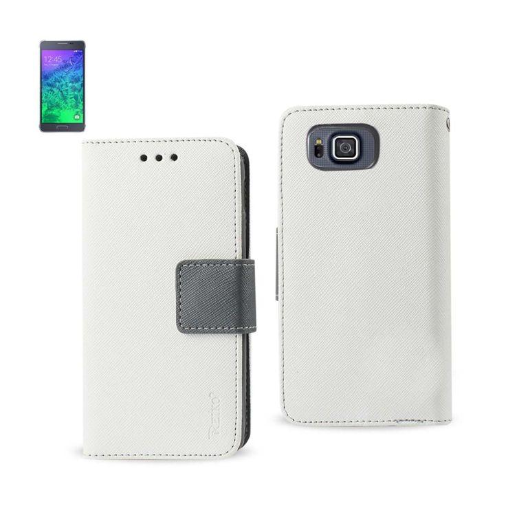 Reiko Samsung Galaxy Alpha 3-in-1 Wallet Case In White